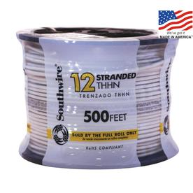 500-ft 12-AWG Stranded White Copper THHN Wire