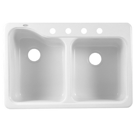 ... American Standard Double-Basin Porcelain Kitchen Sink at Lowes.com