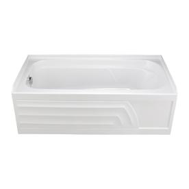 Shop american standard stratford bone porcelain enameled for Porcelain on steel bathtub review