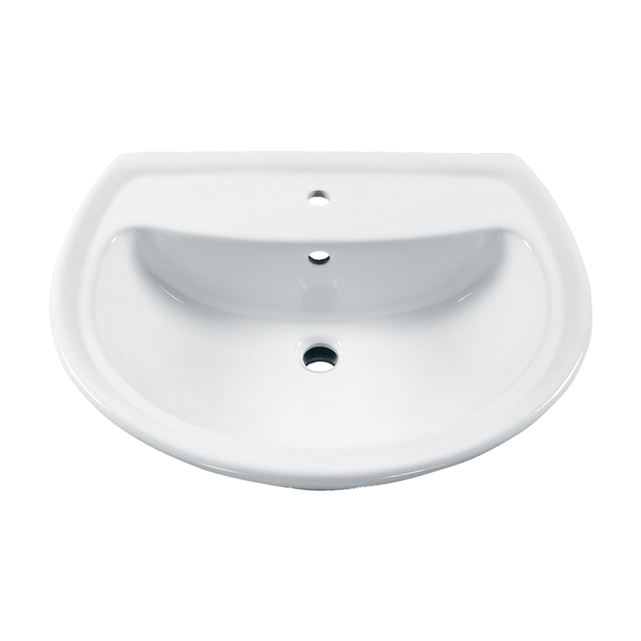American Standard Pedestal Sink Lowes : ... 21.5-in W White Vitreous China Oval Pedestal Sink Top at Lowes.com