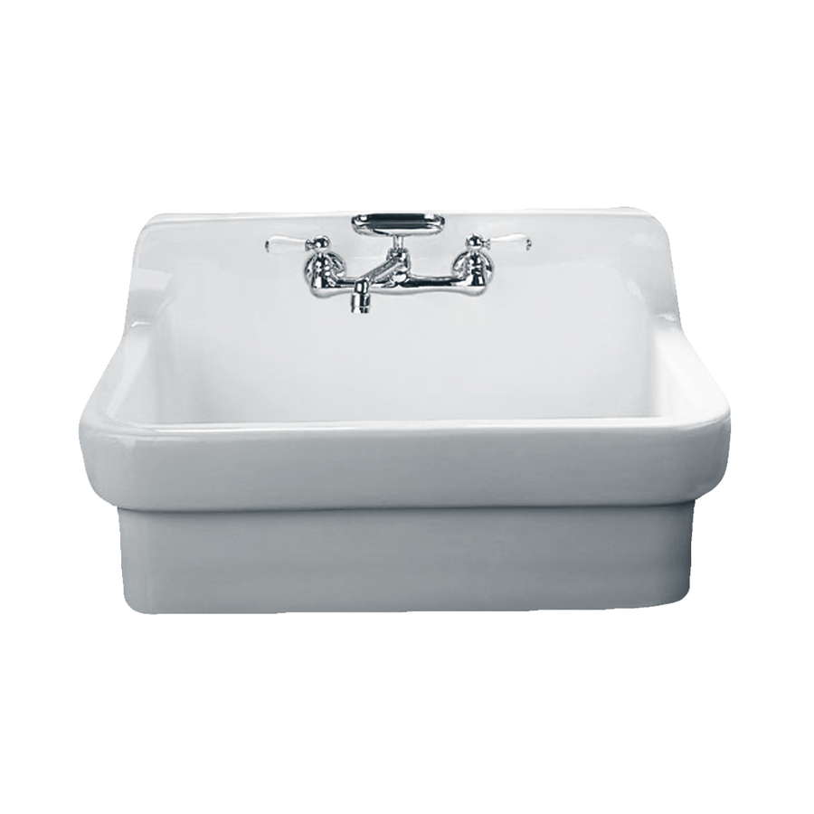 Farmhouse Ceramic Sink : ... Single-Basin Apron Front/Farmhouse Porcelain Kitchen Sink at Lowes.com