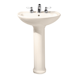 American Standard Pedestal Sink Lowes : American Standard 35-in H Cadet Linen Vitreous China Complete Pedestal ...