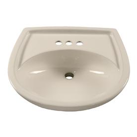 American Standard 18-1/2-in L x 21-1/4-in W Colony Bone Vitreous China Oval Pedestal Sink Top