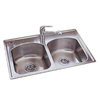 American Standard Culinaire 18-Gauge Double-Basin Drop-In Stainless Steel Kitchen Sink