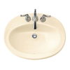 American Standard Piazza Bone Drop-In Oval Bathroom Sink with Overflow