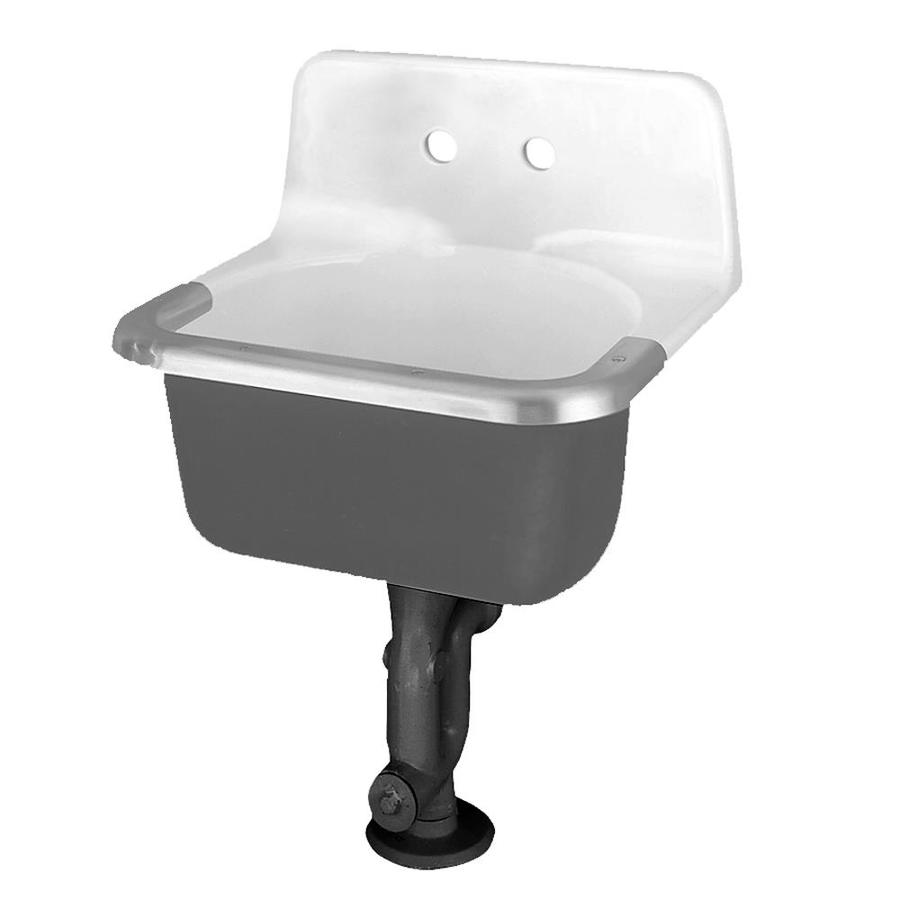 ... American Standard White Cast Iron Wall Mount Utility Tub at Lowes.com