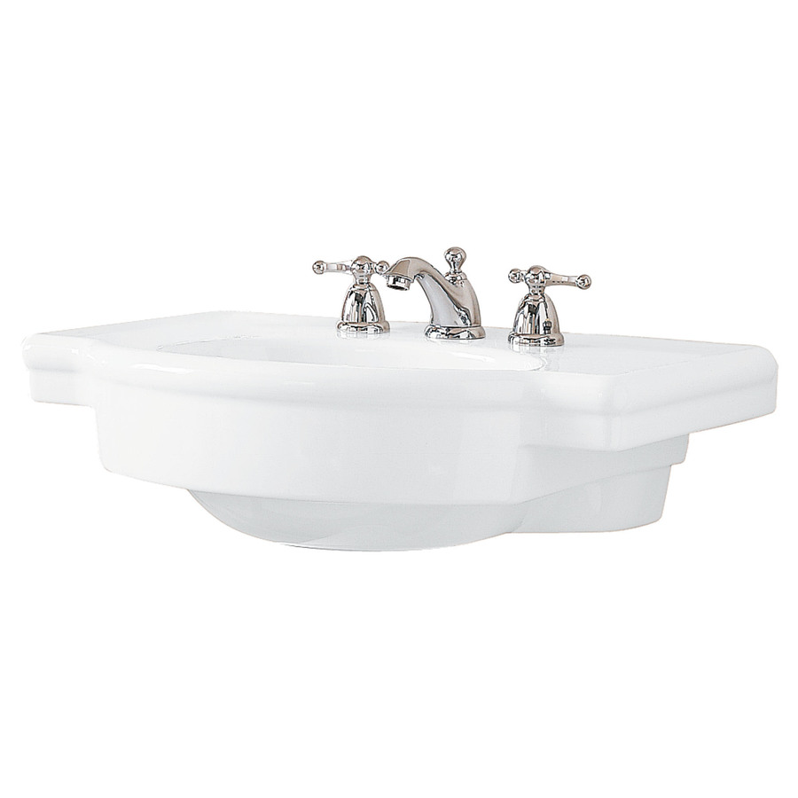 American Standard Pedestal Sink Lowes : ... 687-in L x 27-in W White Fire Clay Oval Pedestal Sink Top at Lowes.com