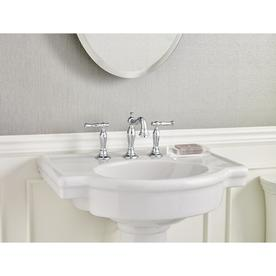 American Standard Retrospect 36-in H White Fire Clay Complete Pedestal Sink