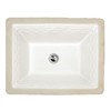 American Standard Portsmouth White Undermount Rectangular Bathroom Sink with Overflow