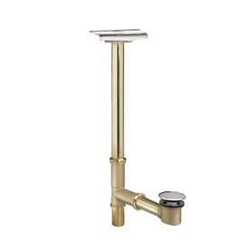 American Standard 1-1/2-in Polished Chrome Foot Lock with Brass Pipe