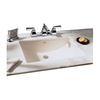 American Standard Studio Cream Natural Marble Undermount Single Sink Bathroom Vanity Top (Common: 30-in x 22-in; Actual: 30-in x 22-in)