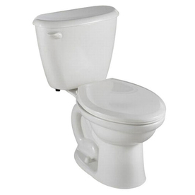 American Standard Colony White 1.6-GPF/6.06-LPF 12-in Rough-in Round 2-Piece Standard Height Toilet