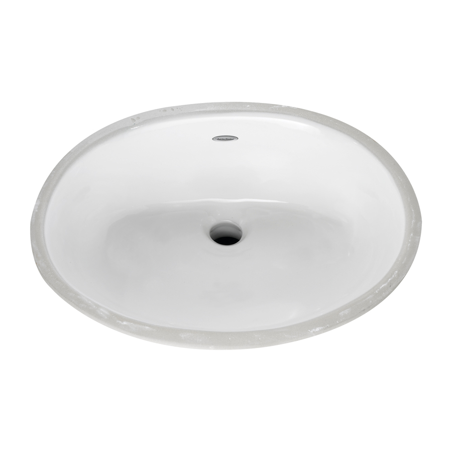 Shop American Standard Ovalyn White Undermount Oval Bathroom Sink With Overflow At