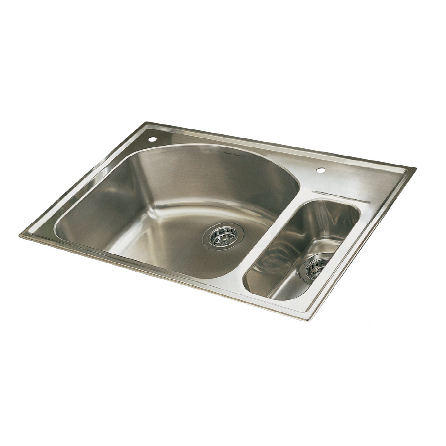 Shop american standard culinaire double basin drop in for Culinaire