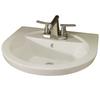 American Standard Tropic 18.5-in L x 21-in W Linen Vitreous China Oval Pedestal Sink Top