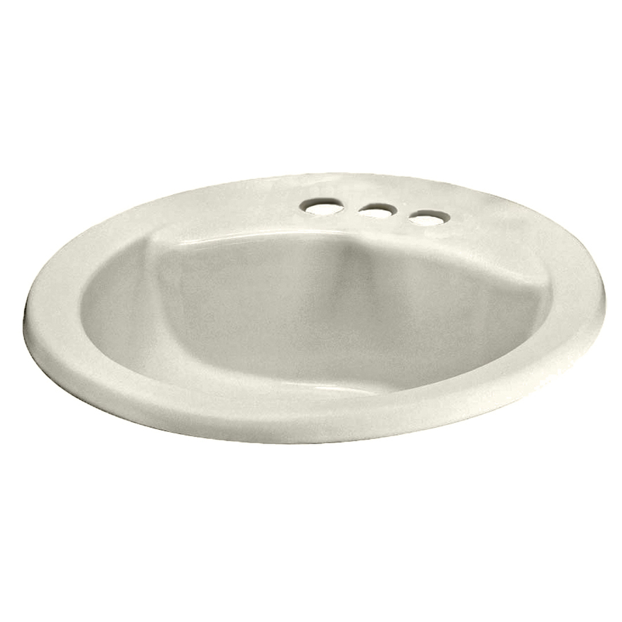 Cadet Linen Drop-In Round Bathroom Sink with Overflow at Lowes.com