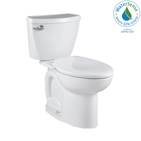 American Standard Cadet 3 White High Efficiency WaterSense Elongated 2-Piece Toilet