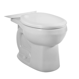 American Standard H2O Option Standard Height White 12-in Rough-In Round Toilet Bowl
