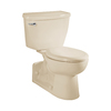 American Standard Yorkville Bone 1.1-GPF (4.16-LPF) 12-in Rough-in WaterSense Elongated Pressure Assist 2-Piece Standard Height Rear Outlet Toilet