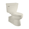 American Standard Yorkville Linen 1.1-GPF (4.16-LPF) 12-in Rough-in WaterSense Elongated Pressure Assist 2-Piece Standard Height Rear Outlet Toilet