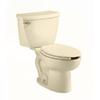 American Standard Cadet Flowise Bone 1.1-GPF (4.16-LPF) 12-in Rough-in WaterSense Elongated Pressure Assist 2-Piece Standard Height Toilet