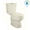 American Standard H2Option Linen 1.28-GPF (4.85-LPF) 12-in Rough-In WaterSense Elongated Dual-Flush 2-Piece Chair Height Toilet