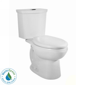 American Standard H2Option White 1.6 GPF WaterSense Elongated Dual-Flush 2-Piece Toilet