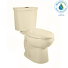 American Standard H2Option Bone 1.28 GPF High Efficiency WaterSense Elongated Dual-Flush 2-Piece Toilet