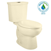 American Standard H2Option Bone 1.6 GPF High Efficiency WaterSense Elongated Dual-Flush 2-Piece Toilet