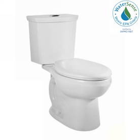 American Standard H2Option White 1.28 GPF High Efficiency WaterSense Round Dual-Flush 2-Piece Toilet