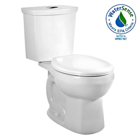 American Standard H2Option White 1.6; 1.1-GPF 12-in Rough-in WaterSense Round Dual-Flush 2-Piece Standard Height Toilet