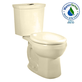 American Standard H2Option Bone 1.6; 1.0-GPF 12-in Rough-in WaterSense Round Dual-Flush 2-Piece Standard Height Toilet