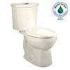 American Standard H2Option Linen 1.6; 1.1-GPF 12-in Rough-in WaterSense Round Dual-Flush 2-Piece Standard Height Toilet