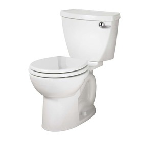American Standard Cadet 3 White 1.28-GPF 12-in Rough-in Watersense Round 2-Piece Comfort Height Toilet