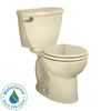 American Standard Cadet 3 FloWise Bone 1.28 GPF High Efficiency WaterSense Round 2-Piece Toilet