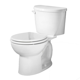 American Standard Evolution White 1.6-GPF/6.06-LPF 12-in Rough-in Round 2-Piece Standard Height Toilet