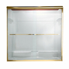 American Standard Euro 40-in to 44-in W x 65.5-in H Polished Brass Sliding Shower Door