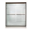American Standard Euro 44-in to 48-in W x 65.5-in H Oil-Rubbed Bronze Sliding Shower Door
