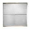 American Standard Euro 44-in to 48-in W x 70-in H Brushed Nickel Sliding Shower Door