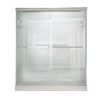 American Standard Euro 56-in to 60-in W x 65.5-in H Silver Sliding Shower Door