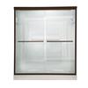 American Standard Euro 56-in to 60-in W x 65.5-in H Oil-Rubbed Bronze Sliding Shower Door