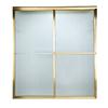 American Standard Prestige 44-in to 46-in W x 68-in H Polished Brass Sliding Shower Door