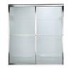 American Standard Prestige 46-in to 48-in W x 71.5-in H Silver Sliding Shower Door