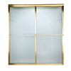 American Standard Prestige 46-in to 48-in W x 71.5-in H Polished Brass Sliding Shower Door