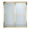 American Standard Prestige 56-in to 60-in W x 71.5-in H Polished Brass Sliding Shower Door