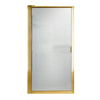 American Standard 31-3/8-in Polished Brass Framed Pivot Shower Door
