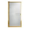 American Standard 33-1/8-in to 34-7/8-in Polished Brass Framed Pivot Shower Door
