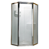 American Standard 24-3/8-in W x 68-1/2-in H Silver Framed Neo-Angle Shower Door