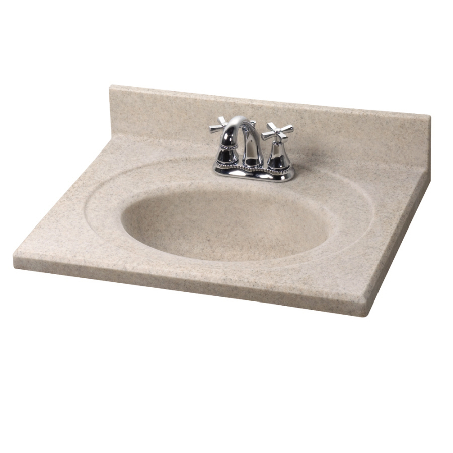 ... Granite Satin Cultured Marble Integral Single Sink Bathroom Vanity Top