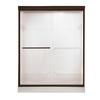 American Standard Euro 44-in to 48-in W x 70-in H Oil-Rubbed Bronze Sliding Shower Door